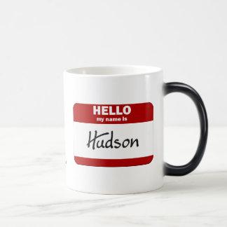 Hallo ist mein Name der Hudson (rot) Verwandlungstasse