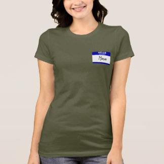 Hallo ist mein Name der Maya (blau) T-Shirt