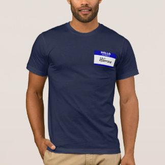 Hallo ist mein Name Hamza (blau) T-Shirt