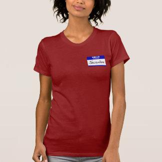 Hallo ist mein Name Jacqueline (blau) T-Shirt