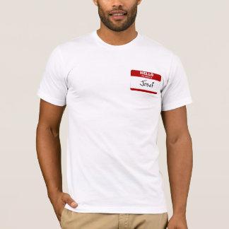 Hallo ist mein Name Josef (rot) T-Shirt