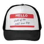 hallo ist mein Name Kind des eines wahren Königs Trucker Caps