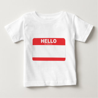 hallo ist mein Name leerer Name tag.png Baby T-shirt