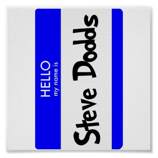 Hallo ist mein Name Plakat Steve Dodds