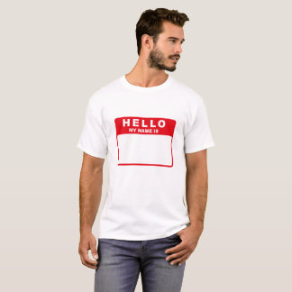 Hallo, ist mein Name (Rot) T-Shirt