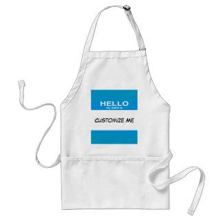 Hallo ist mein Name… Schürze
