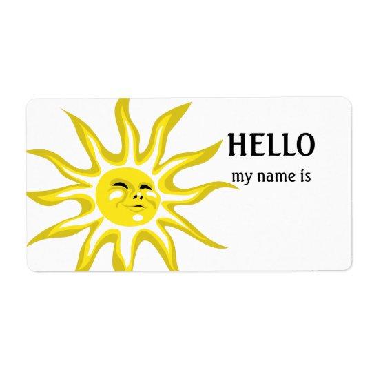 Hallo ist mein Name Sonnenschein-Aufkleber