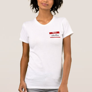 Hallo ist mein Name Valentina (rot) T-Shirt