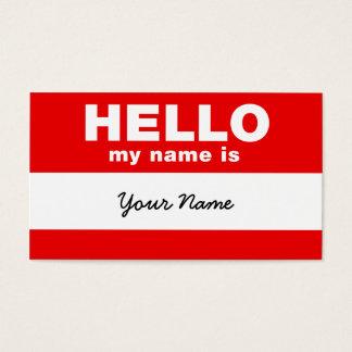 Hallo ist mein Name Visitenkarte