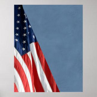 Hallo KOMPAKTER FOTO-HINTERGRUND Res - US-Flagge Poster