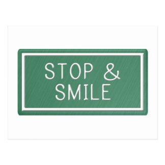 Hallo Lächeln-motivierend Zitat-Raum-Postkarte