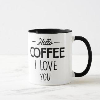 Hallo Liebe des Kaffee-I Sie - Barista Café - Tasse