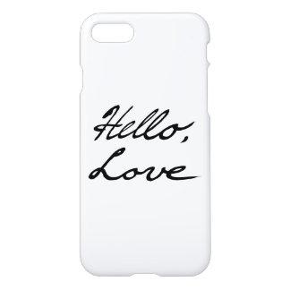 Hallo Liebe-Telefon-Kasten iPhone 8/7 Hülle