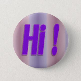 hallo lila runder button 5,7 cm