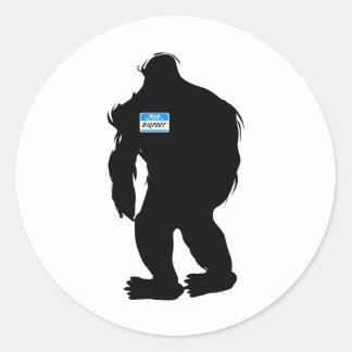 Hallo-Mein Name ist Bigfoot Stickers