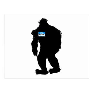 Hallo-Mein Name ist Bigfoot Postkarten