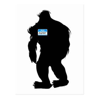Hallo-Mein Name ist Bigfoot Postkarte