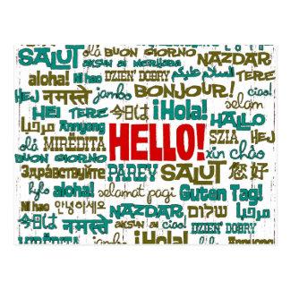 Hallo (multi Sprach) Postkarte