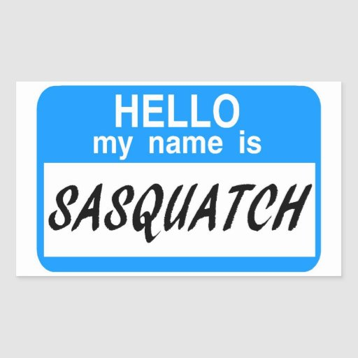 Hallo Namensschild Sasquatch Sticker