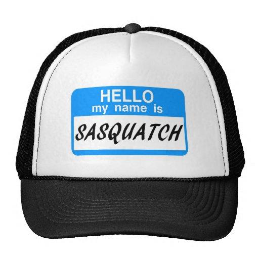 Hallo Namensschild Sasquatch Netzkappe