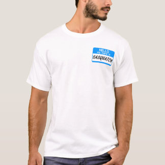 Hallo Namensschild Sasquatch T-Shirt