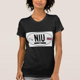 Hallo-NIU-Aufkleber T-Shirt