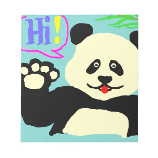 Hallo Panda! Notizblock