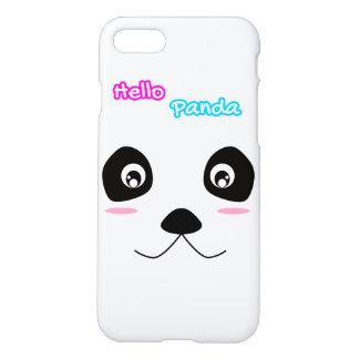 Hallo Panda-weißes Panda-Gesichts-niedlicher iPhone 8/7 Hülle