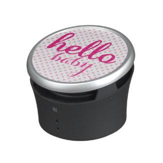 Hallo personalisierte moderne rosa Punkte des Bluetooth Lautsprecher