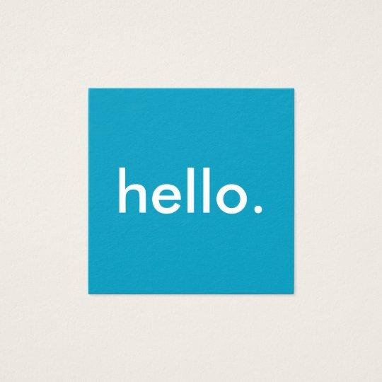 Hallo quadratische Visitenkarten