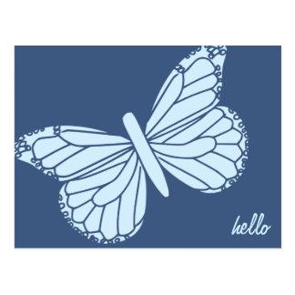 Hallo Schmetterlings-kundengerechte Postkarte