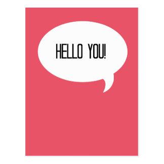 Hallo Sie! Postkarte