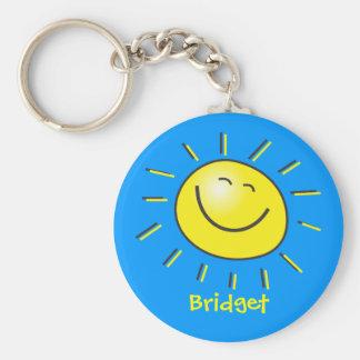 Hallo Sonne Standard Runder Schlüsselanhänger