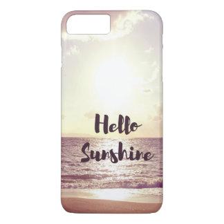 """""""Hallo Sonnenschein-"""" Foto-Zitat iPhone 8 Plus/7 Plus Hülle"""