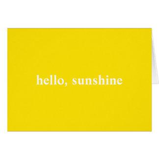 Hallo Sonnenschein-gelbe Anmerkungs-Karte Mitteilungskarte