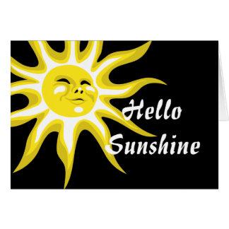 Hallo Sonnenschein-Gruß-Karte Karte