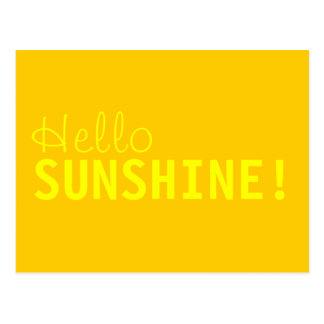 Hallo Sonnenschein-Postkarte Postkarte