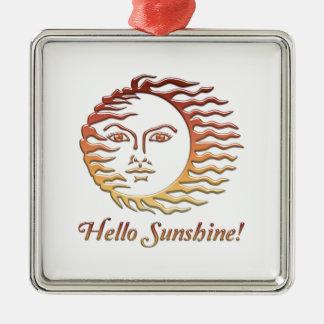 HALLO SONNENSCHEIN Spaßsun-Sommer Silbernes Ornament