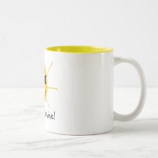 Hallo, Sonnenschein! Zweifarbige Tasse