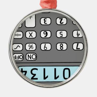 hallo Taschenrechner Silbernes Ornament