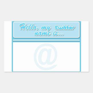 Hallo… Twitternamensumbau Rechteckiger Aufkleber