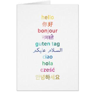 """""""Hallo"""" um von der Welt - Mitteilungskarten Karte"""