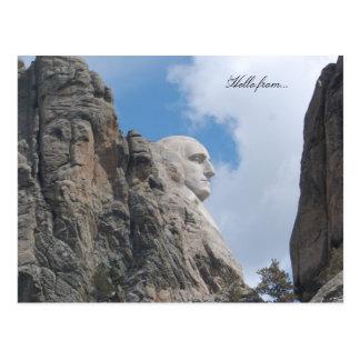 Hallo von… Der Mount Rushmore Postkarte