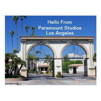 Hallo von der Paramount-Studio-    Postkarte