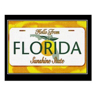 Hallo von der Vintagen Reise-Postkarte Floridas Postkarte