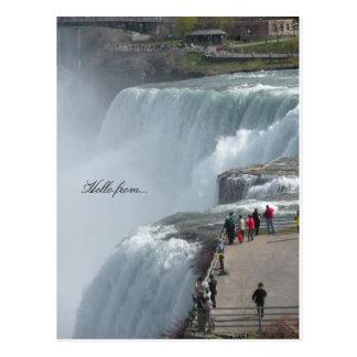 Hallo von… Niagara Falls ny Kanada Postkarte