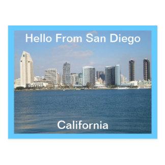 Hallo von San Diego, Kalifornien Postkarte