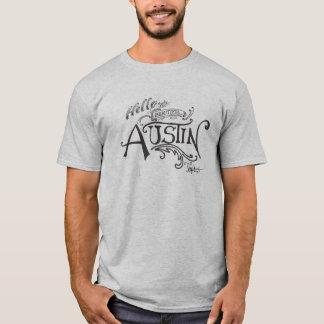 Hallo von schönem Austin Texas T-Shirt