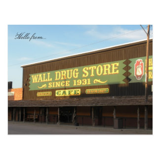 Hallo von… Wand-Droge Postkarte