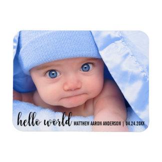 Hallo Weltneues Baby-moderne Mitteilung Magnet